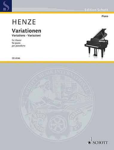 Variations, Op. 13 - Hans W Henze - Partition - laflutedepan.com