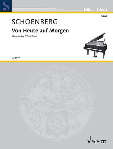 Von Heute Auf Morgen - SCHOENBERG - Partition - laflutedepan.com