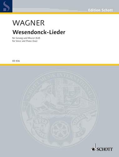 Richard Wagner - Wesendonck Lieder. Deep voice - Partition - di-arezzo.co.uk