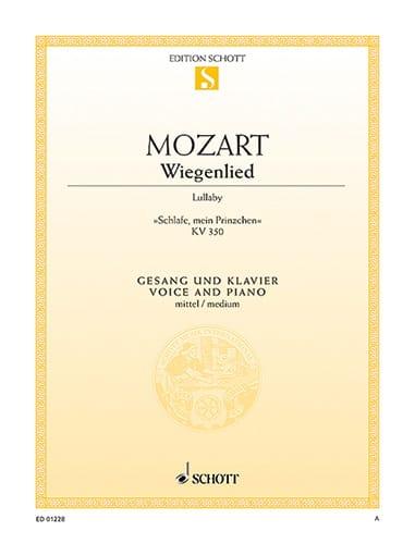 Wiegenlied KV 350. Voix Moyenne - MOZART - laflutedepan.com