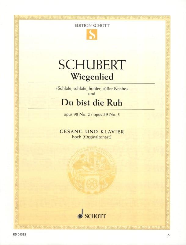 Wiegenlied Opus 98-2 / Du Bist Die Ruh Opus 59-3 - laflutedepan.com