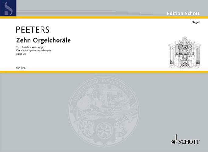 10 Chorals Op. 39 - Flor Peeters - Partition - laflutedepan.com