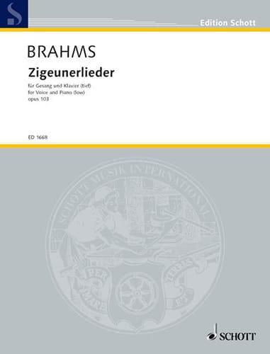 BRAHMS - 8 Zigeunerlieder Opus 103. Serious Voice - Partition - di-arezzo.com