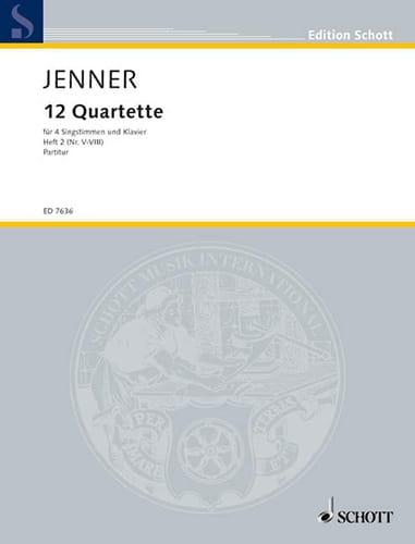 12 Quartette Volume 2 - Gustav Jenner - Partition - laflutedepan.com