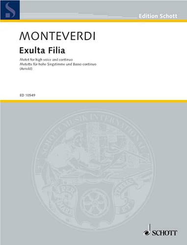 Claudio Monteverdi - Exulta Filia - Partition - di-arezzo.co.uk