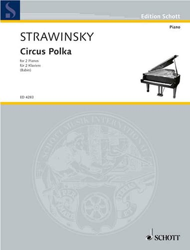 Igor Stravinski - Circus Polka. 2 Pianos - Partition - di-arezzo.com