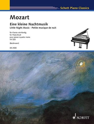 MOZART - Small Music Night K 525. 4 Hands - Partition - di-arezzo.co.uk