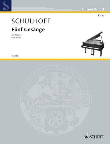 5 Gesänge 1919 - Erwin Schulhoff - Partition - laflutedepan.com