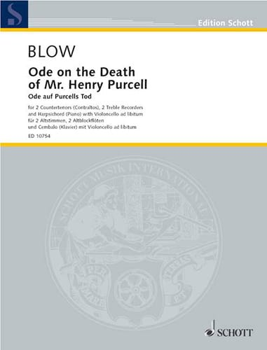 Ode on the Death of Mr. Henry Purcell - John Blow - laflutedepan.com