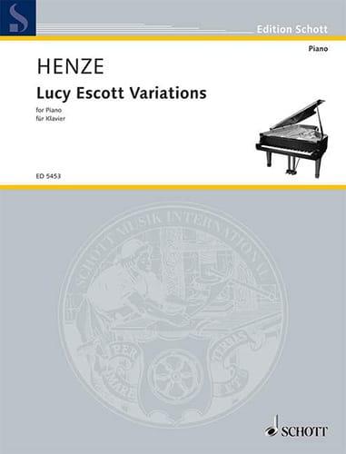 Lucy Escott Variations - Hans Werner Henze - laflutedepan.com