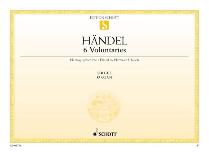 HAENDEL - 6 Voluntaries - Partition - di-arezzo.fr