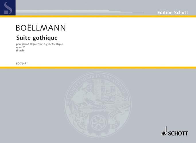 Léon Boëllmann - Gothic Suite Opus 25 - Partition - di-arezzo.co.uk