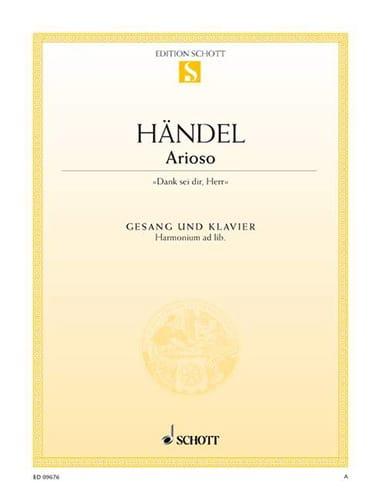 Arioso - HAENDEL - Partition - Mélodies - laflutedepan.com