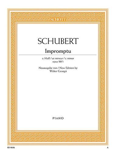 Impromptu Ut Mineur Op. 90-1 - SCHUBERT - Partition - laflutedepan.com