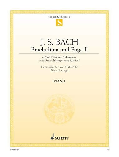 Präludium et Fugue BWV 847 Do Mineur - BACH - laflutedepan.com