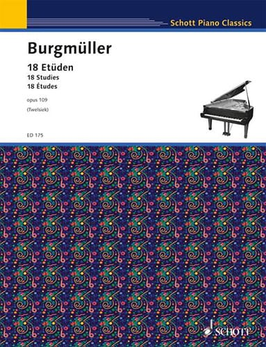 Frédéric Burgmuller - 18 Etüden Opus 109 - Partition - di-arezzo.co.uk
