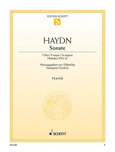 HAYDN - Piano Sonata in F major Hob. 16-23 - Partition - di-arezzo.com