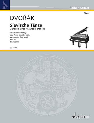 DVORAK - Slaves Dances 4 Hands Opus 72 Volume 1 - Partition - di-arezzo.co.uk