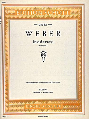 Moderato, op. 10/1 - Weber - Partition - Piano - laflutedepan.com