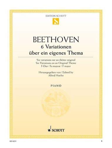 6 Variationen En Fa Majeur Opus 34 - BEETHOVEN - laflutedepan.com