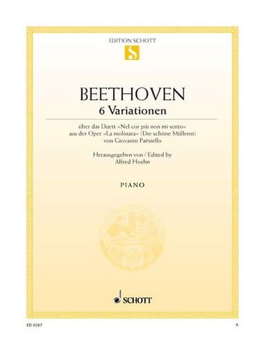 6 Variations Sol Majeur WoO 70 - BEETHOVEN - laflutedepan.com