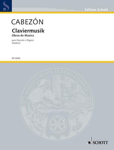 Klaviermusik - Antonio de Cabezon - Partition - laflutedepan.com