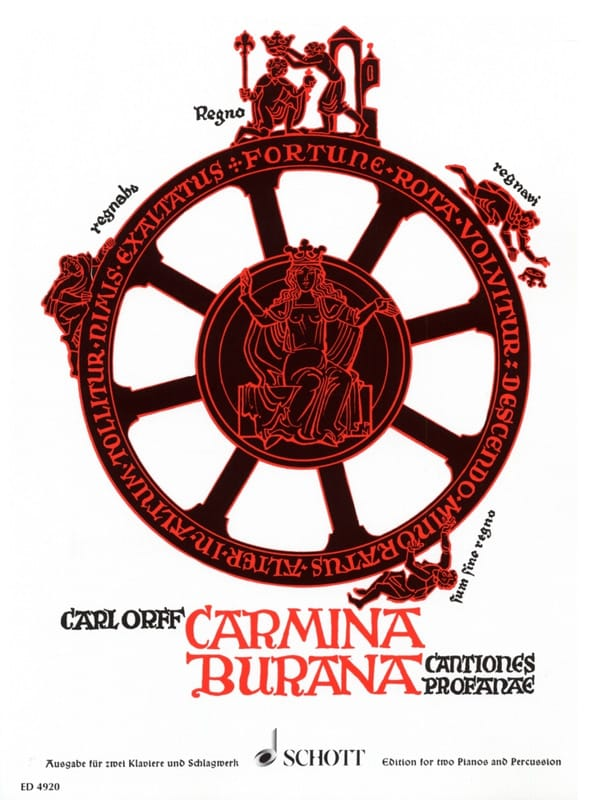 Carl Orff - Carmina Burana. Chorus / 2 Pianos / Percu - Partition - di-arezzo.co.uk