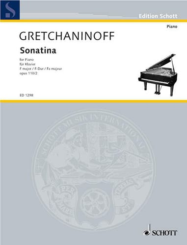 Alexander Gretchaninov - Sonatine Fa Major Op. 110-2 - Partition - di-arezzo.co.uk