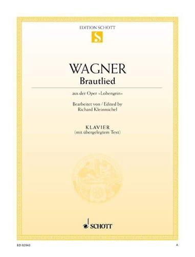 Richard Wagner - Brautlied. Piano - Partition - di-arezzo.co.uk