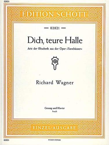 Richard Wagner - Dich, Truce Halle. Tannhäuser Wwv 70 - Partition - di-arezzo.co.uk