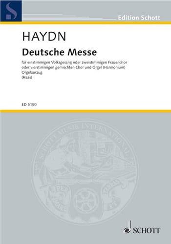 Deutsche Messe - Michael HAYDN - Partition - Chœur - laflutedepan.com