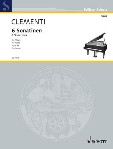 Muzio Clementi - 6 Sonatinen, Opus 36 - Partition - di-arezzo.es