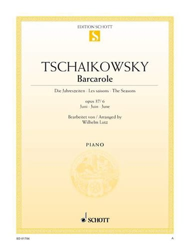 TCHAIKOWSKY - Barcarolle (June) Opus 37 2 - 6 - Partition - di-arezzo.co.uk