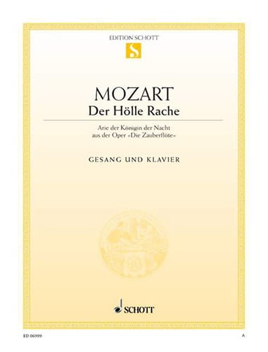 MOZART - Der Hölle Rache. Zauberflöte. - Partition - di-arezzo.co.uk