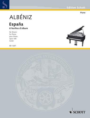 Isaac Albeniz - España Opus 165 - Partition - di-arezzo.fr