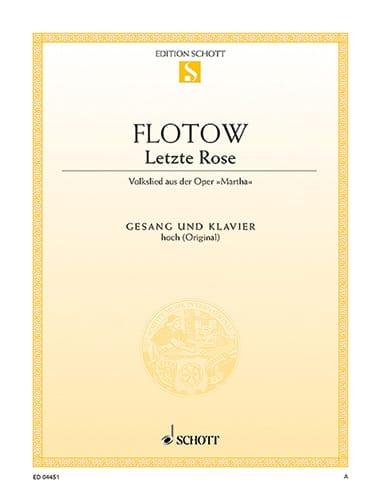 Letzte Rose. Martha - Friedrich von Flotow - laflutedepan.com