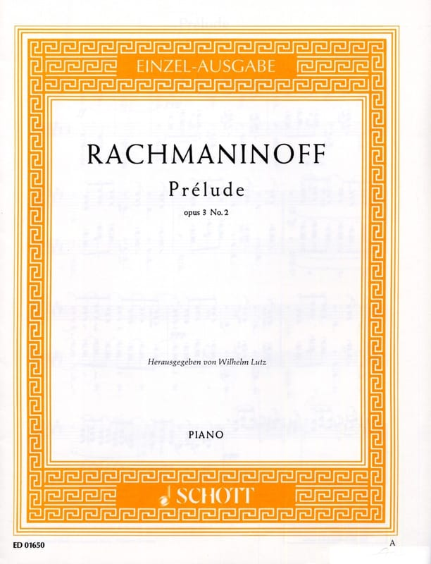 RACHMANINOV - Prelude C sharp Minor Opus 3-2 - Partition - di-arezzo.co.uk