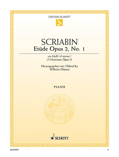 Alexander Scriabine - Study In C sharp Minor Opus 2-1 - Partition - di-arezzo.co.uk