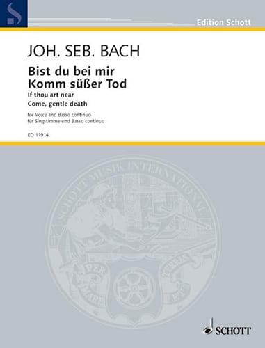 BACH - Bist Du Bei Mir - Komm, Süsser Tod. Deep voice - Partition - di-arezzo.com