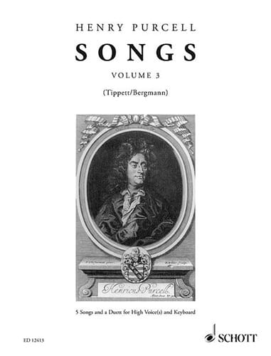 Songs Vol 3 - PURCELL - Partition - Mélodies - laflutedepan.com