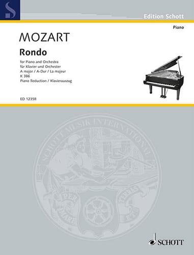 Rondo En la Majeur K 386. 2 pianos - MOZART - laflutedepan.com
