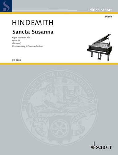 Paul Hindemith - Sancta Susanna Op. 21 1921 - Partition - di-arezzo.co.uk