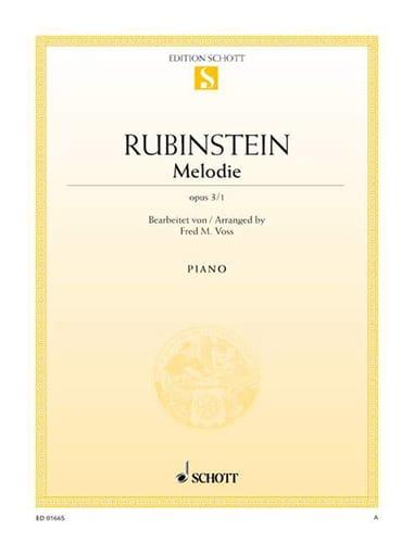 Mélodie Fa Majeur, Opus 3-1 - Anton Rubinstein - laflutedepan.com