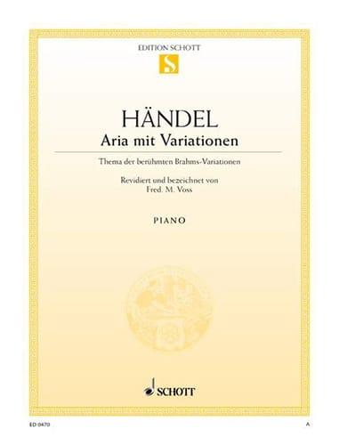Aria mit Variationen - HAENDEL - Partition - Piano - laflutedepan.com