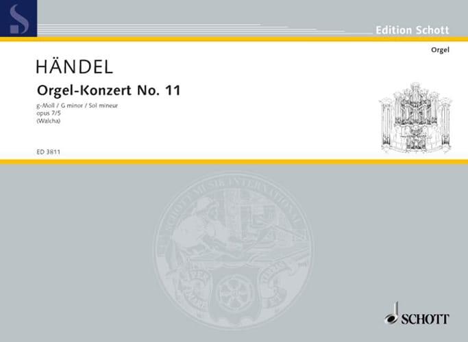 Concerto N° 11 G-Moll Op. 7-5 - HAENDEL - Partition - laflutedepan.com