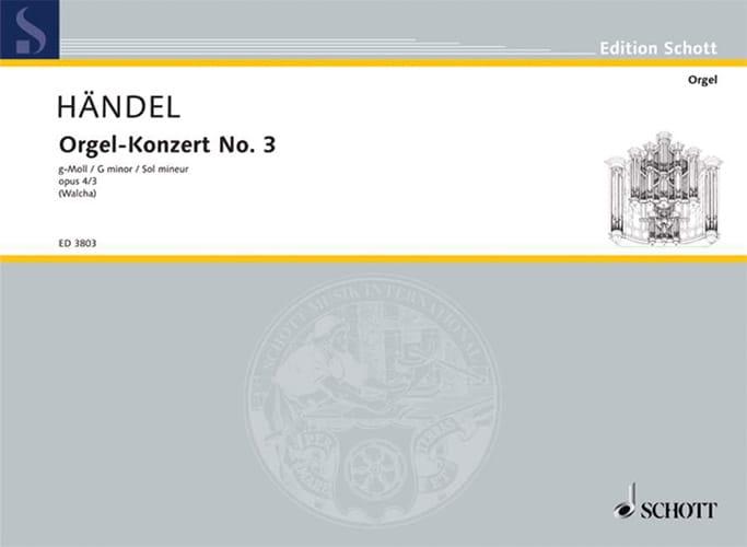 Concerto N° 3 G-Moll op. 4-3 - HAENDEL - Partition - laflutedepan.com