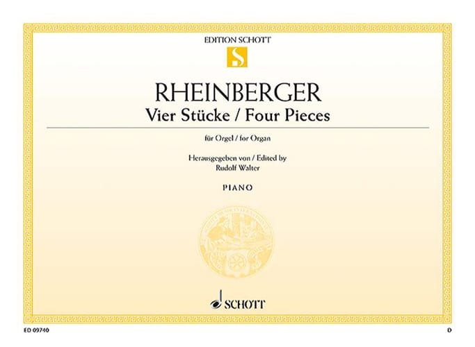 4 Stücke - RHEINBERGER - Partition - Orgue - laflutedepan.com