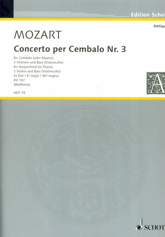 Concerto pour piano n° 3 en mi bémol majeur, K 107 - laflutedepan.com