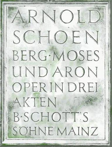 Moses Und Aron - SCHOENBERG - Partition - Opéras - laflutedepan.com