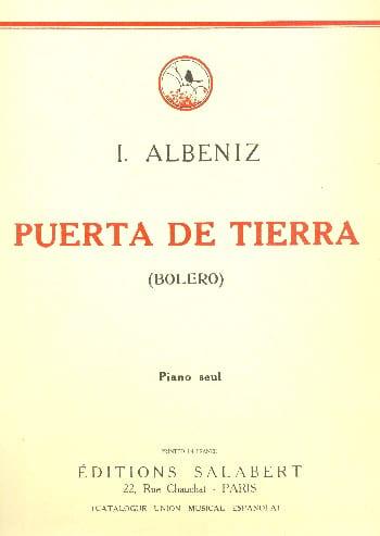 Puerta de Tierra - ALBENIZ - Partition - Piano - laflutedepan.com